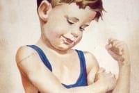 Kind mit Lebertran